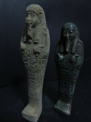Rare ANTIQUE ANCIENT EGYPTIAN 2 USHABTI (SHABTI)