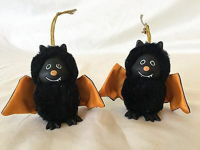 Vintage Russ Berrie Creepy Critters for Halloween lot of 2 Bat D10