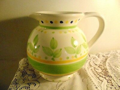 Gibson Everyday Housewares Squat Pitcher Hand Painted