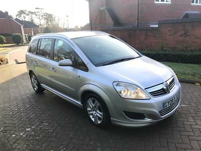 2009 Vauxhall Zafira Active 1.9CDTi MPV Manual Silver 2 Keys 7 Seater