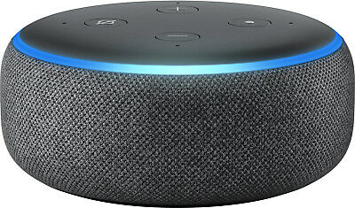 New Amazon - Echo Dot (3rd Gen) Smart Speaker - Charcoal Fabric