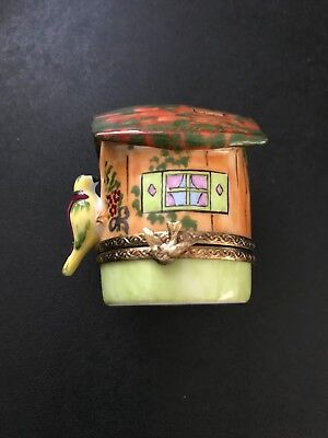 Vintage Limoges Hinged Box - Bird House - Excellent Condition
