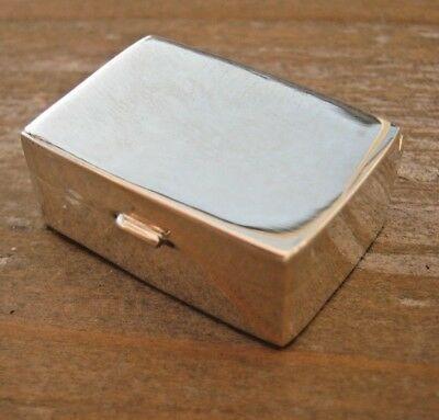 A Sweet Antique Style English Hallmarked Sterling Silver Snuff Box / Vinaigrette