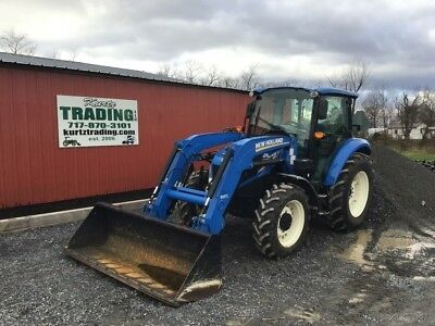 2013 New Holland T4.75 4WD Cab Tractor With Front Loader!