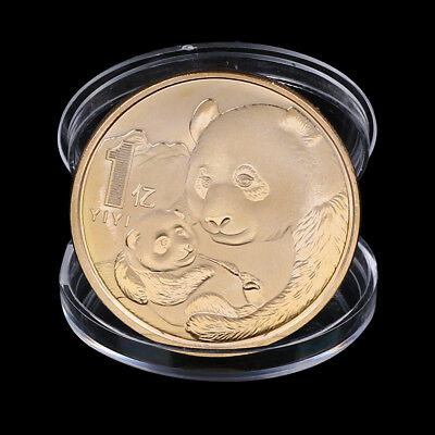 2019 China Panda Commemorative Coin Gold Plated Souvenir Coin New Year Gifts OJ