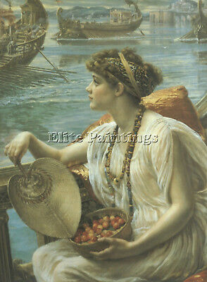 Edward Poynter A Roman Boat Race Artist Painting Reproduction Handmade Oil Repro