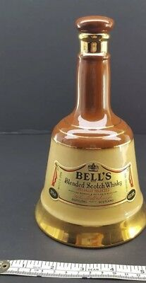 VINTAGE BELL'S Old Scotch Whisky Bottle, 37.5 c l, Ceramic, Bell Shaped