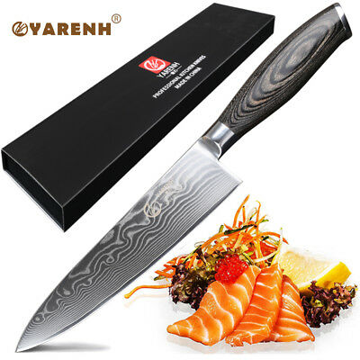 YARENH Chef Knife 8 Inch,Damascus Kitchen Knives Professional Vegetable Knife