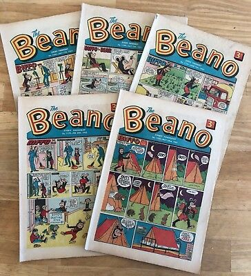 THE BEANO COMIC 1965 x 5 issues inc No 1200 Minimum VG PLUS Lovely collection