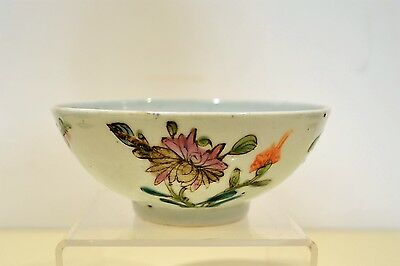 Antique Chinese Tongzhi Famille Rose Porcelain Bowl 4 seasons