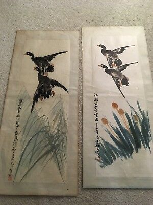 antique chinese scroll paintings