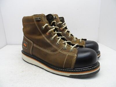 """TIMBERLAND PRO Men's GRIDWORKS 6"""" SOFT TOE WORK BOOTS A1B4L Brown Size 13M"""
