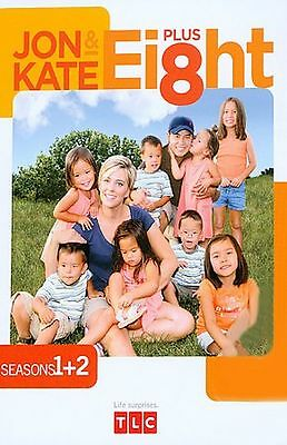 Jon  Kate Plus Ei8ht - Seasons 1- 2 (DVD, 2008, 2-Disc Set) 2.99 BRAND NEW SALE