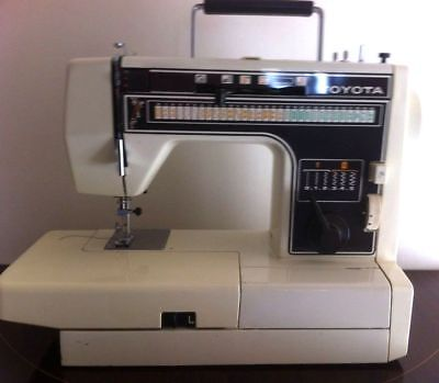 Toyota Model 7001 Semi Industrial Electric Sewing Machine All Cams Zig Zag