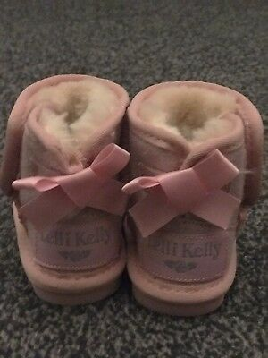 Baby Girl Lelli Kelly Boots Size 4 Eur20 Brand New Pink