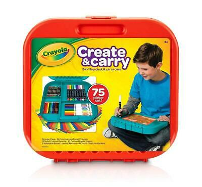 Crayola Create 'n Carry 75 Piece Art Kit Gift for Kids 5 & Up, 2-in-1...