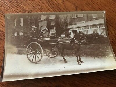Old B And W Photo  Horse And  Carriage    1930