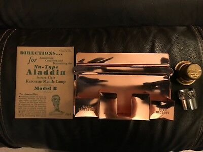 Price Reduced! Excellent Condition! Aladdin Copper Plated Match Holder