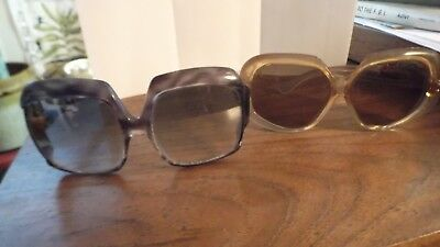 a5b96c2927 Funky Vintage Italian and Foster Grant Oversized Women s Sunglasses PAIR!