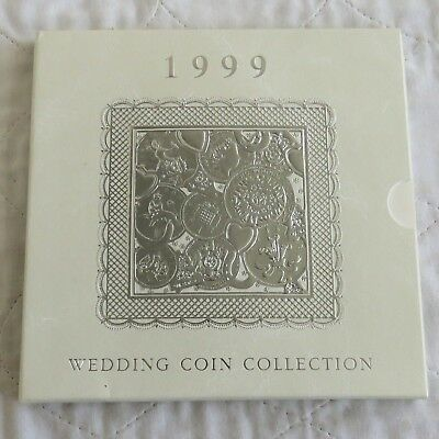 1999 ROYAL MINT BRILLIANT UNCIRCULATED 8 COIN WEDDING SET  - sealed pack
