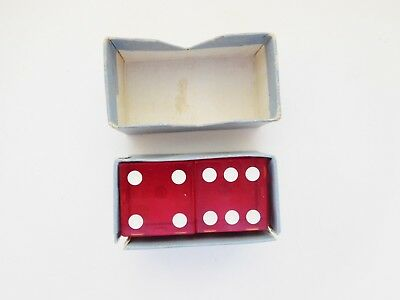 VERY RARE Jack Todd Poker Chip Maker DICE PAIR VINTAGE 1930'S Mint Condition