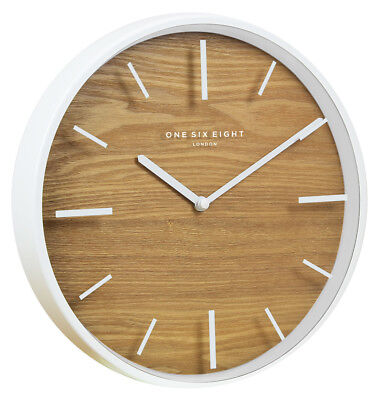 NEW 30cm Willow Silent Wall Clock - OneSixEightLondon,Clocks