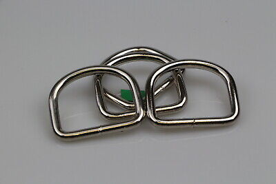 Dee d ring 4 x welded steel 50mm x 7mm horse rugs dog collars leads