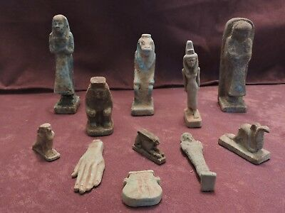 Ancient Egyptian Antiques Rare 11 Amulets  BC