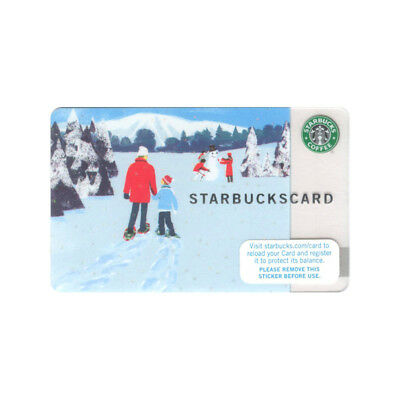 Lot of 5 Christmas (2007) Winter Walk Snow Holiday Starbucks Gift Cards | #6038