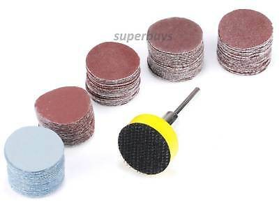 100pcs 25mm Sanding Sander Backing Backer Pad Rotary Drill Sand Paper Disc Emery