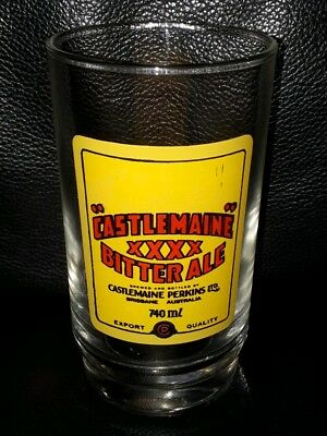 Rare Collectable Castlemaine Xxxx Bitter Ale Beer Glass Brand New Never Used