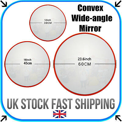 "18"" 24"" Outdoor Road Traffic Convex Mirror Wide Angle Driveway Safety & Security"