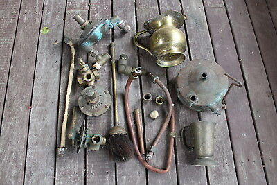 Bulk Lot of Brass & Copper Spare Parts Steampunk Farm Country Metal Art