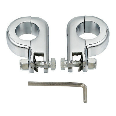 """FootPeg Clamps for Harley Electra Glide Softail Road King 1 1/4"""" Highway Bars"""