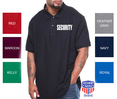 SECURITY Polo T-Shirt  Bouncer Event Staff Uniform Police Security polo T-Shirt