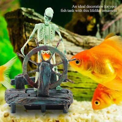 Decorations Aquarium Fish Tank Pirate Captain Air Bubble Flow Landscape Skeleton Decor New