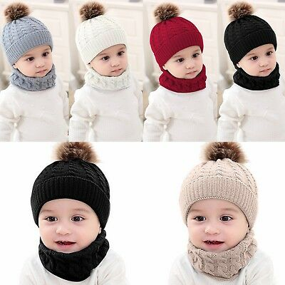 1pcs Cute Baby Winter Hat Warm Child Beanie Cap Animal Cat Ear Kids Crochet Knitted Hat For Boys Girls Hot Apparel Accessories Girl's Accessories