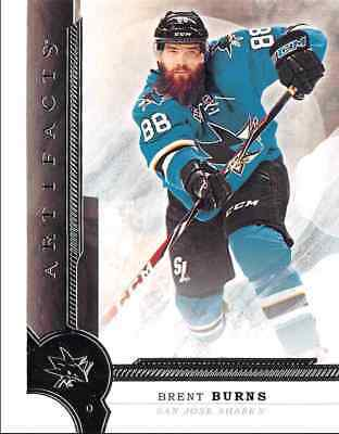 2016-17 Upper Deck Artifacts Burns San Jose Sharks #61