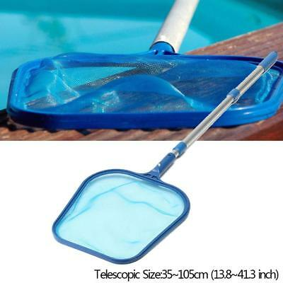 Swimming Pool Spa Handle Cleaning Net Leaf Rake Mesh Frame Skimmer w/ 4' Pole AU