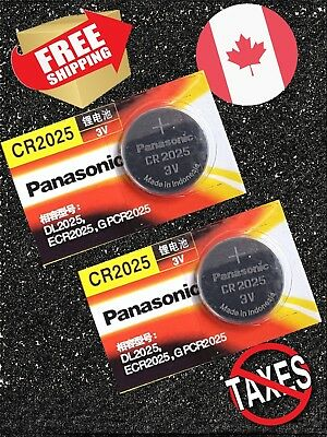 2 pecs Panasonic CR2025, BR2025, DL2025, 3V Cell Lithium Watch Battery, Exp 2023