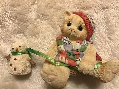 """Enesco Calico Kittens """"One Look From You Melts My Heart"""""""