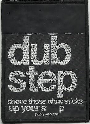 """Woven Sew On Patch 2.75/"""" x 4/"""" Aborted F*ck Dub Step"""