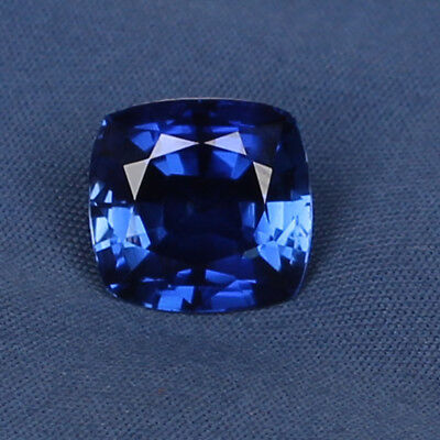 Natural Royal Blue Sapphire 8.00 Ct Square Cushion Cut Loose Gemstone Certified
