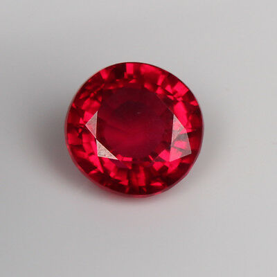 Natural Blood Red Ruby 8.05 Ct. Brilliant Round Cut Loose Gemstone For Jewelry