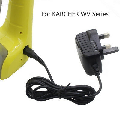Window Vac Vacuum Battery Charger UK Plug Power Cable for KARCHER WV2/50/60/70