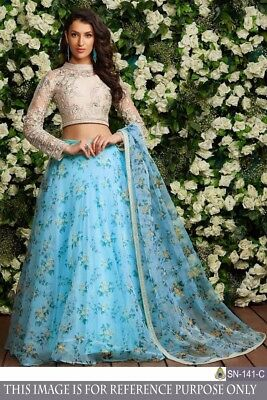 Lehenga Indian Wedding Reception Lengha Choli Ghagra Bridal Floral Printed Dress Clothing, Shoes & Accessories Other Women's Clothing