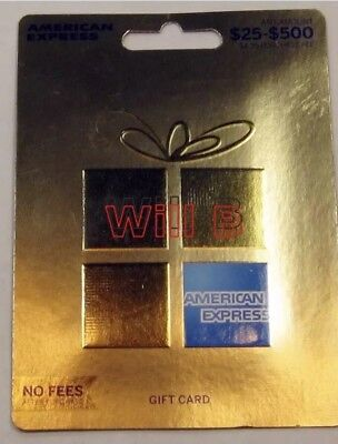 $25-$500 American Express Card Gift ($200 Cash Value) Non-Reloadable, NEW Sealed