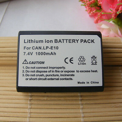 Battery for Canon EOS 1300D EOS Rebel T6 EOS 2000D EOS 4000D 1000mAh