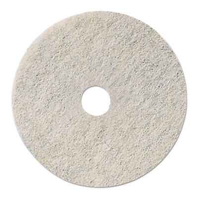 "Natural White Burnishing Floor Pads, 24"" Diameter, 5/Carton"