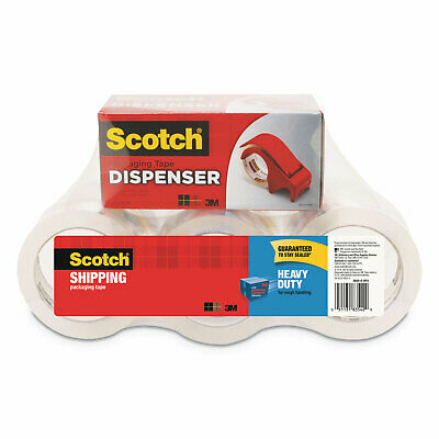 6 Pack 1.88 in x 60.15 yd Scotch Heavy Duty Shipping Packaging Tape